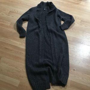 I.N.C long open cardigan sweater size M